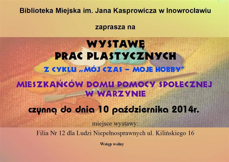 Wystawa prac plastycznych mieszkańców Domu Pomocy Społecznej w Warzynie