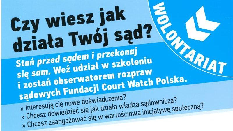 """Poznaj swoje prawa i obowiązki: """"Stań przed sądem – przekonaj się sam!"""""""